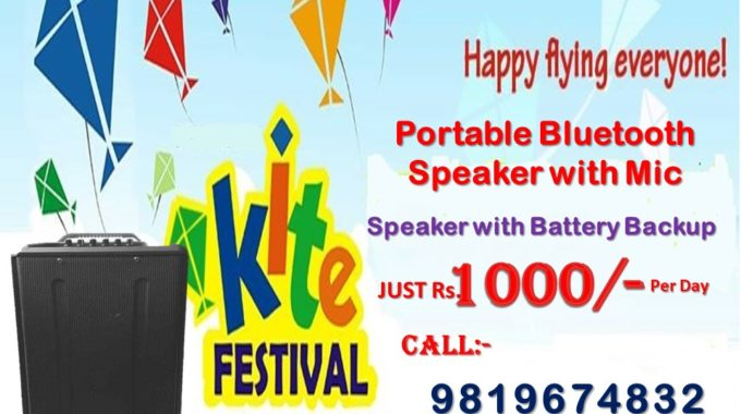 Portable Speaker on rent for Makar Sankranti