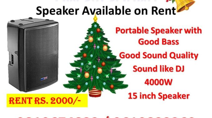 Sound available on rent for Christmas
